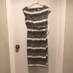NWT Calvin Klein striped dress